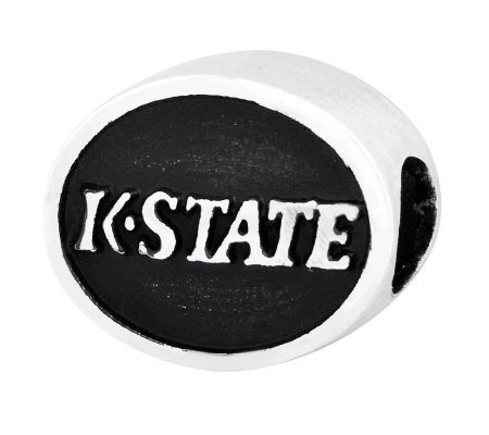 Sterling Silver Kansas State University Bead
