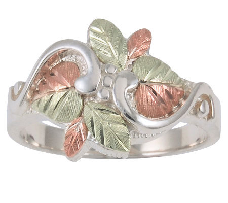Black Hills Leaf Bouquet Ring, Sterling/12K Gold