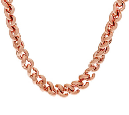 "Bronze Bold 20"" 'S' Link Necklace by Bronzo Italia"