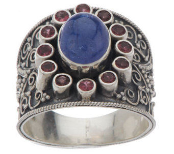 """As Is"" Artisan Crafted Sterling Ltd. Edition 3.20 ct Gemstone Ring - J322737"