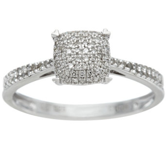 Diamond Pave' Choice of Cut Sterling Ring, 1/5 cttw, by Affinity - J328437