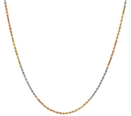 """As Is"" Twisted Shimmer Rope 24"" Necklace 14K, 2.8g"
