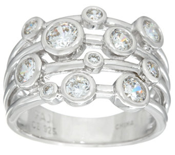 Diamonique Bubble Design Band Ring, Sterling - J332937