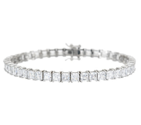 Diamonique Choice of Cut Tennis Bracelet, Sterling