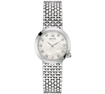 Bulova Ladies' Silvertone Stainless Steel Diamond Accent Watch - J335837