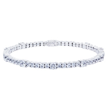 Diamonique Flexible Tennis Bangle, Platinum Clad - J337137