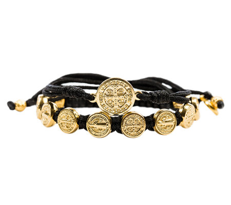 My Saint My Hero Blessing & Protection GoldtoneBracelet Set