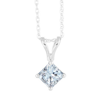 Princess-Cut Diamond Pendant, 14K Gold 3/4 cttw, by Affinity - J341437