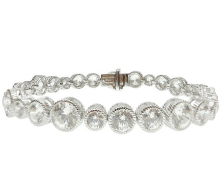 Judith Ripka Sterling Silver Diamonique Large Tennis Bracelet