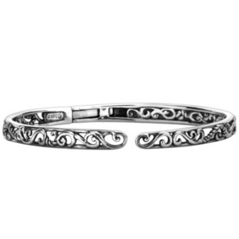 Carolyn Pollack Sterling Signature Hinged Cuff