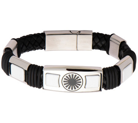 Star Wars Stormtrooper First Order Steel & Leather Bracelet
