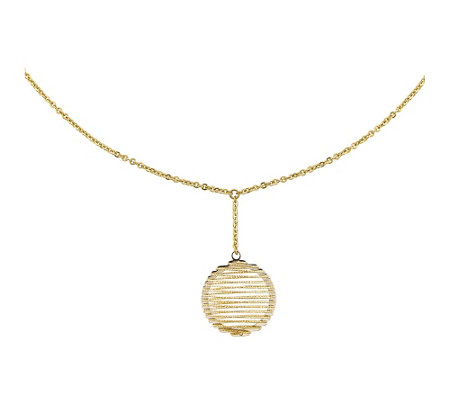 "14K Two-tone Wire Wrapped 18"" Necklace"