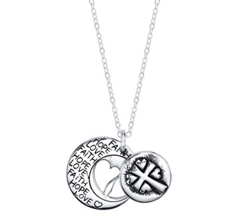Extraordinary Life Sterling Cross Pendant w/ Chain - J345337