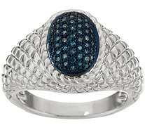 Pave' Colored Diamond Ring Sterling, 1/4 cttw by Affinity - J347537
