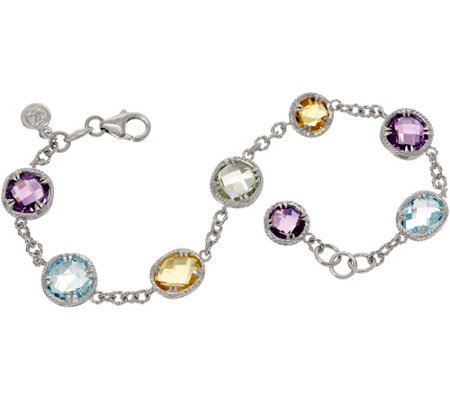 DeLatori Sterling Silver 15.2 cttw Multi-Gemstone Bracelet