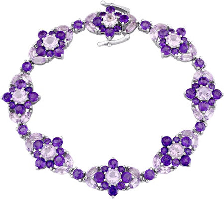 Laura Ashley Sterling 16.15 cttw Multi-GemstoneBracelet