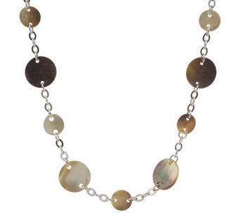 Lee Sands Mother-of-Pearl Disc & Chain 41 1/2-inch Necklace - J71437