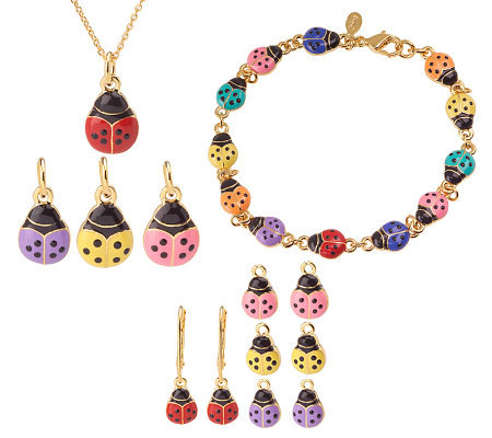 Joan rivers ladybug bracelet necklace earring set page for Joan rivers jewelry necklaces