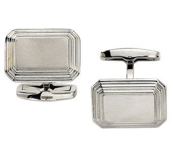 Forza Stainless Steel Rectangular Cuff Links - J109438