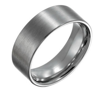 Forza Men's 8mm Steel Flat Brushed Ring - J109538