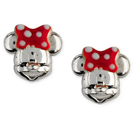 Disney Sterling Silver Mickey or Minnie Mouse Stud Earrings
