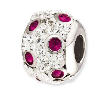 Prerogatives Sterling Spotted Fuchsia Crystal Bead