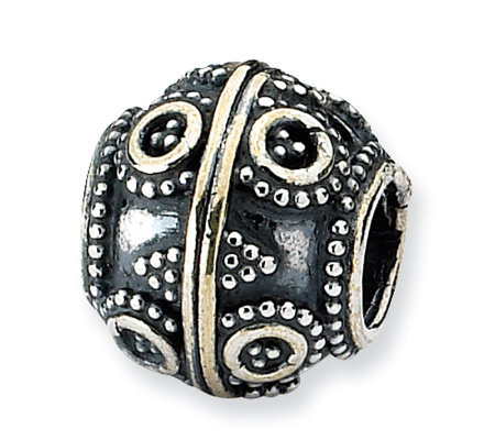 Prerogatives Sterling Circle & Diamond Shapes Artisan Bead