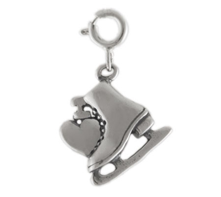 Sterling I Love Ice Skating Charm