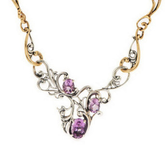 Carolyn Pollack Harmony Faceted Sterling/Brass Gemstone Necklace - J280038