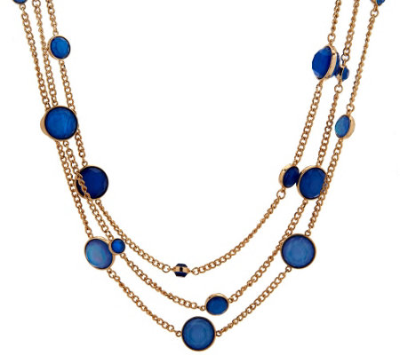 Susan Graver Multi-Chain Necklace with Moonglow Beads