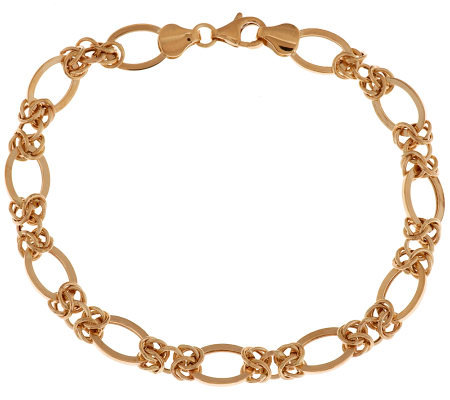 """As Is"" 7-1/4"" Status Woven Bracelet 14K Gold, 3.0g"