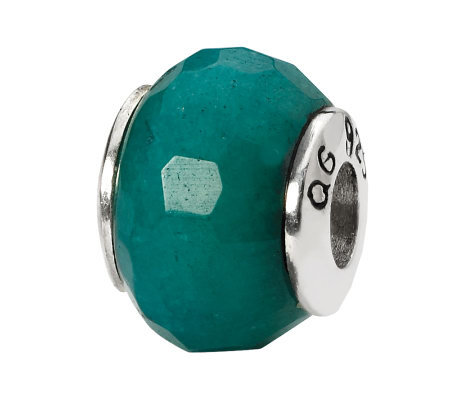 Prerogatives Sterling Teal Quartz Gemstone Bead