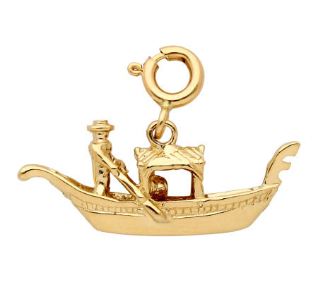 14K Yellow Gold Gondola Charm