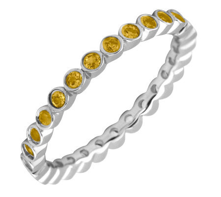 Simply Stacks Sterling Citrine Eternity Stackable Ring
