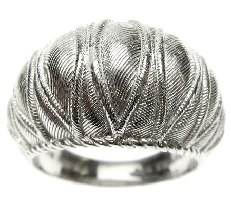 Judith Ripka Sterling Textured Dome Ring
