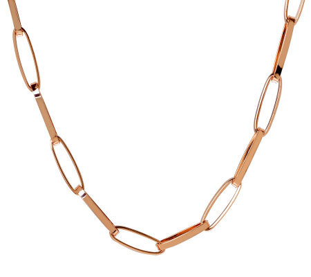 "Bronze 24"" Elongated Oval Link Necklace by Bronzo Italia"