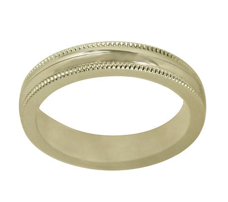 Sterling 2MM Unisex Milgrain Wedding Band R ingGuard