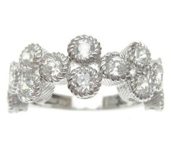 Judith Ripka Sterling Round Diamonique Ring - J313738