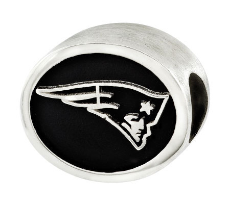 Sterling New England Patriots NFL Bead