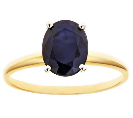 1.70 ct Oval Solitaire Sapphire Ring, 14K G old