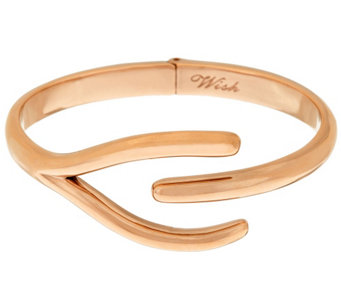 Steel By Design Polished Wishbone Bangle - J319538