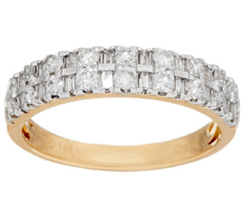 Round & Baguette Diamond Ring, 14K, 1/2 cttw, by Affinity - J321438
