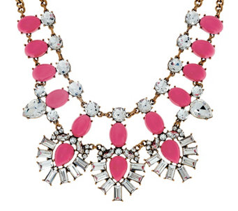 BaubleBar Crystal Feather Bib Necklace - J322338