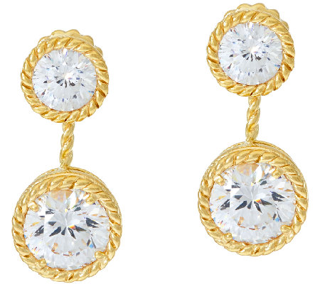 Judith Ripka 14K Clad 118 Facet 5.90 cttw Diamonique Earring Jackets