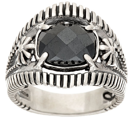 Jennifer Nettles Sterling Silver Faceted Hematite Ring