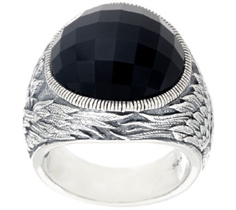 Scott Kay Black Onyx Guardian Angel Ring - J326038