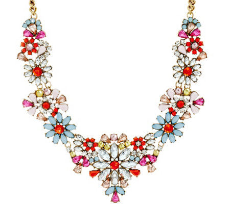 "Joan Rivers Fabulous Floral 18"" Statement Necklace w/ 3"" Extender"