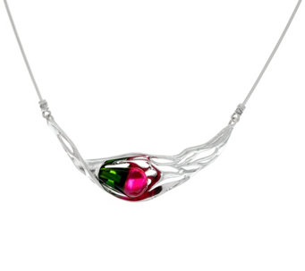 "Hagit Sterling Silver Multi-color Glass 18"" Necklace - J329838"