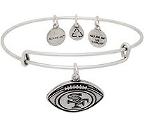 Alex and Ani Silvertone NFL Football Charm Bangle - J352638