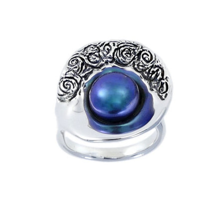 Hagit Sterling Cultured Freshwater Pearl ShellRing